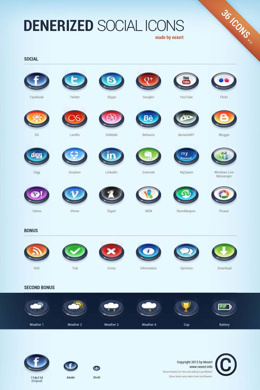Denerized Icons v1.0 by Nexert