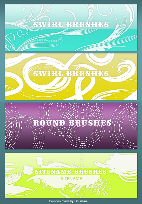 4 new brushes by So-ghislaine