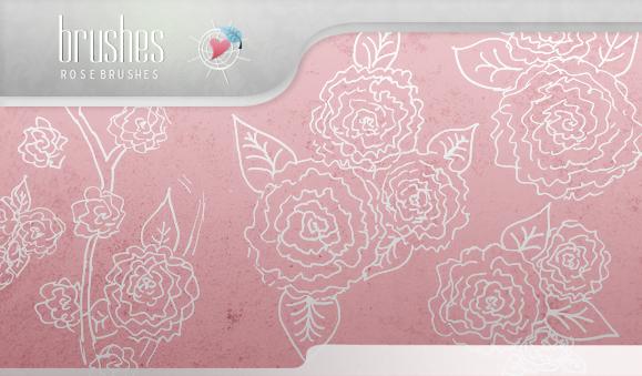 Brushes - Roses by So-ghislaine