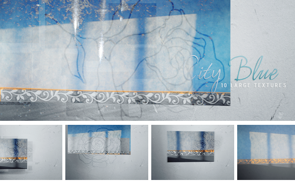 Textures - City Blue by So-ghislaine