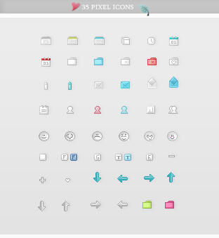 Icon sets - Little pixel by So-ghislaine