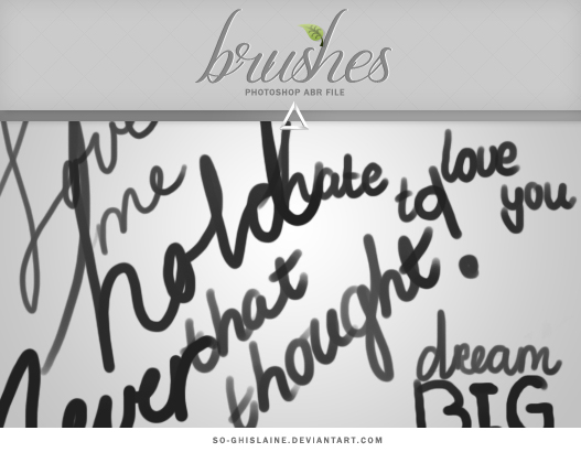 Brushes - Handwritten text by So-ghislaine