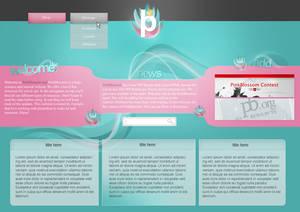 PSD - Pink Waves Web Layout