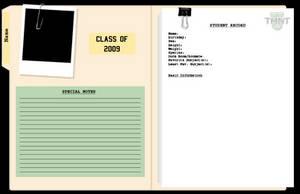TMNT-U Student Record Template by nichan