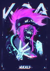 ANIMATED KDA Akali (+ Speedpaint)