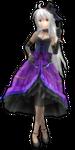 .:DT Gothic Purple Haku DL:. by Korousu