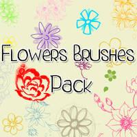 Flowers Brushes Pack' by FridaKltz