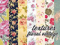 Vintage floral texture