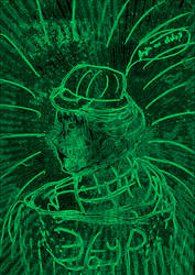 Matrix selfie drawing by 1lta