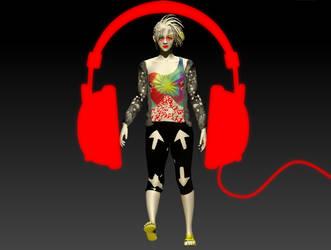 Delirium with headphone by 1lta