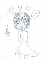 Human Amy Rose and Chao by AnimeKatieKitty