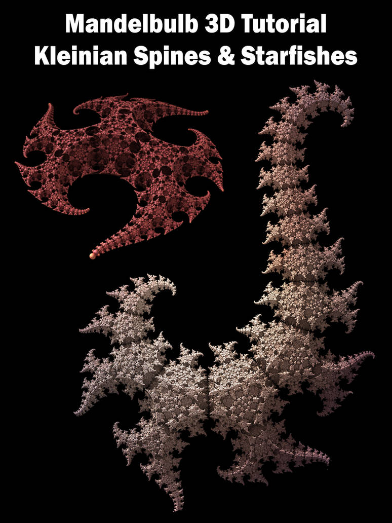M3D Tutorial: KleinIFS Spines and Starfishes by PersistentAura on