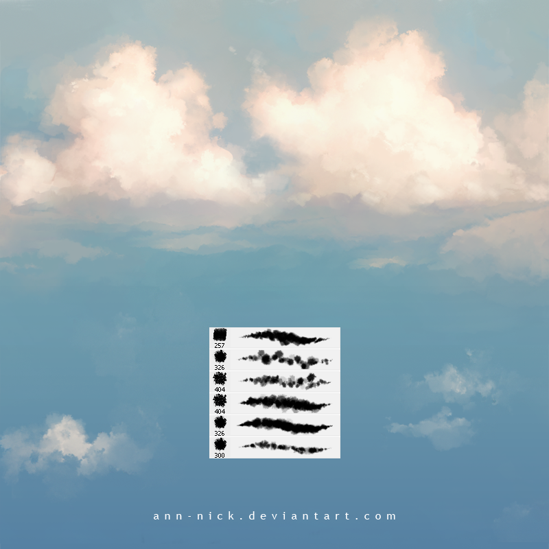 Cloud brushes by Ann-Nick