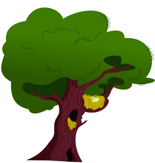fluttershys tree with nest by zixbrony on deviantart
