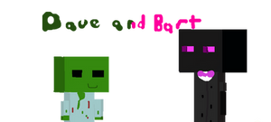 Dave the friendly zombie and Burt the enderman