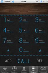 surr3a1 LeatherICS Dialer iphone 4 HD by surr3a1