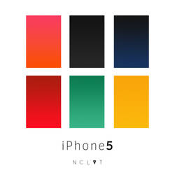 iPhone 5 walls pack I by NCLVT