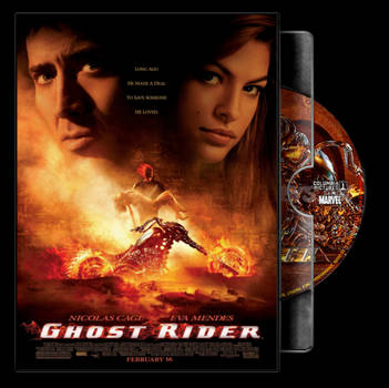 Ghost Rider (2007) Folder Icon DVD Case by MarroneCavalcante