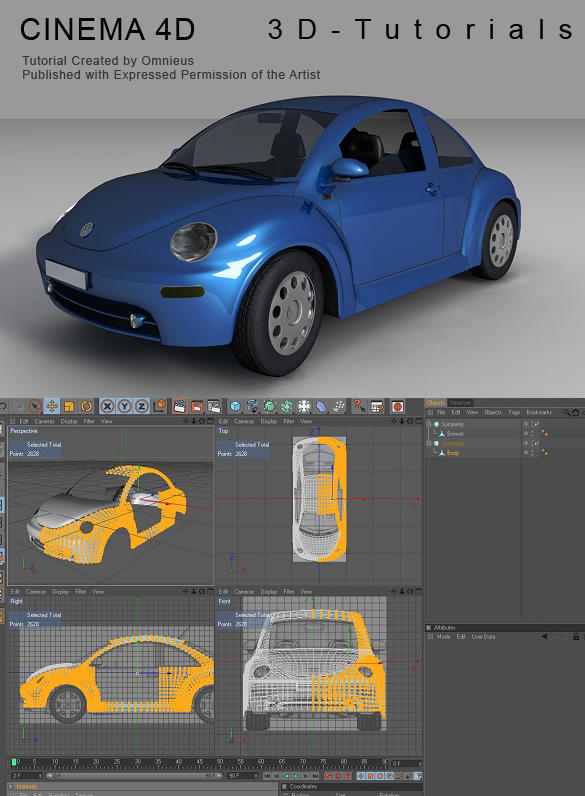 C4d vw beetle tutorial by 3d tutorials on deviantart c4d vw beetle tutorial by 3d tutorials malvernweather Choice Image