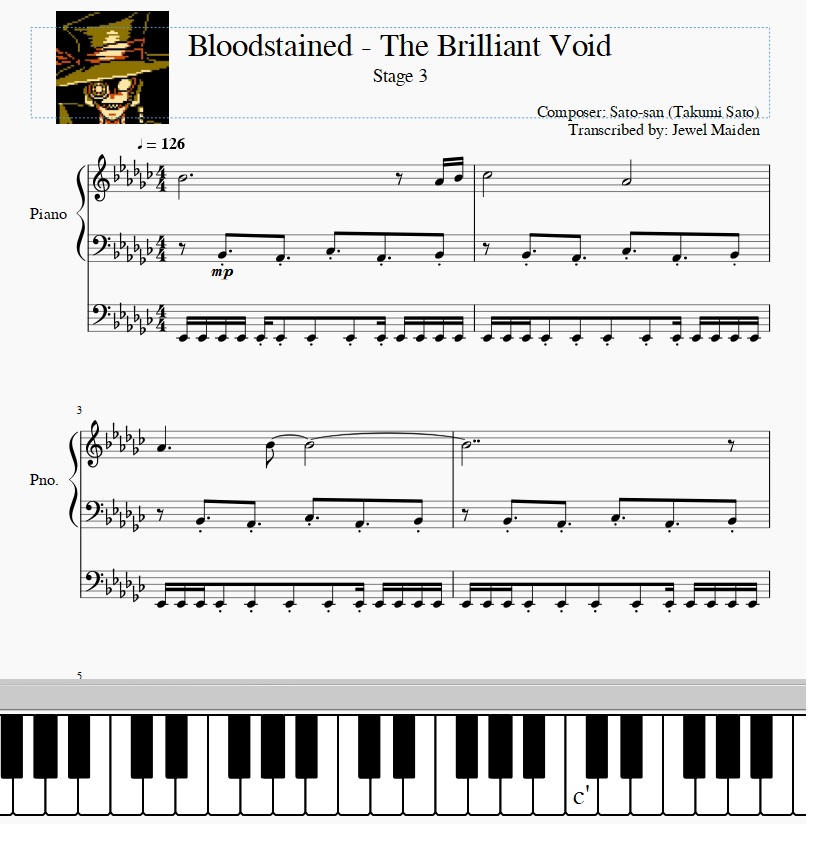 Bloodstained - The Brilliant Void (Stage 3) Sheet by JewelMaiden