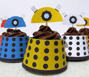 Dalek Cupcake Wrapper