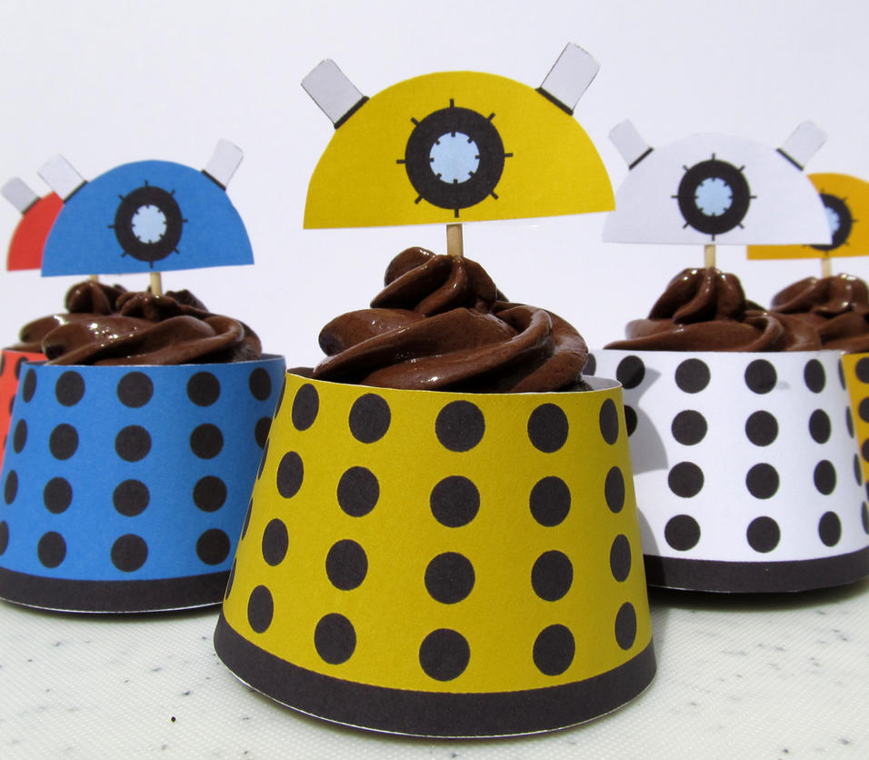 Dalek Cupcake Wrapper by F-A