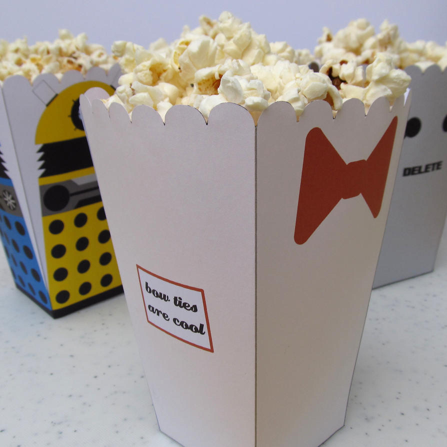 11th Doctor Popcorn Holder by F-A