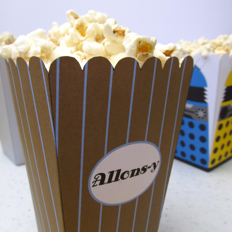 10th Doctor Popcorn Holder by F-A
