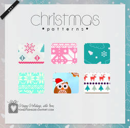 Christmas Patterns   Motivos para PS by yoaeditions