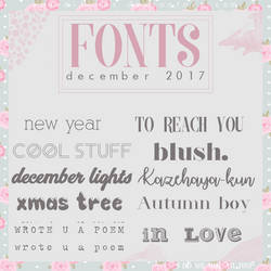 Pack de FONTS -diciembre 2017 by yoaeditions
