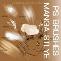 Manga photoshop brushes by Cetriya