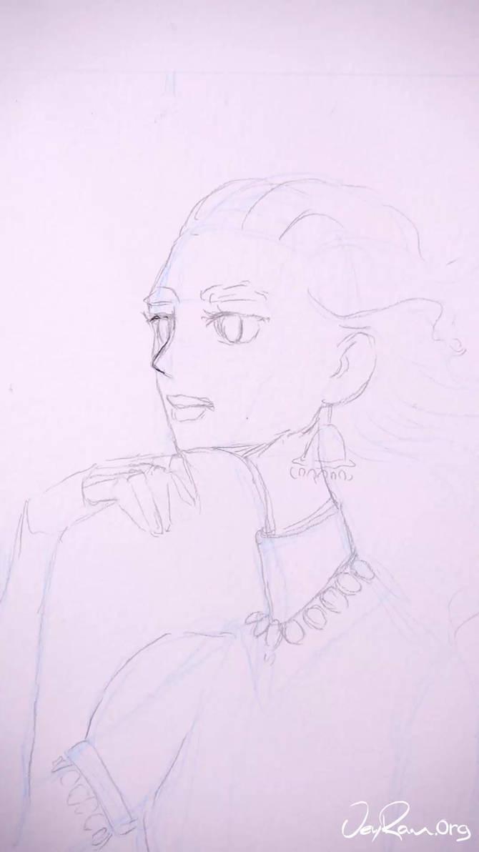 Ink Drawing Process