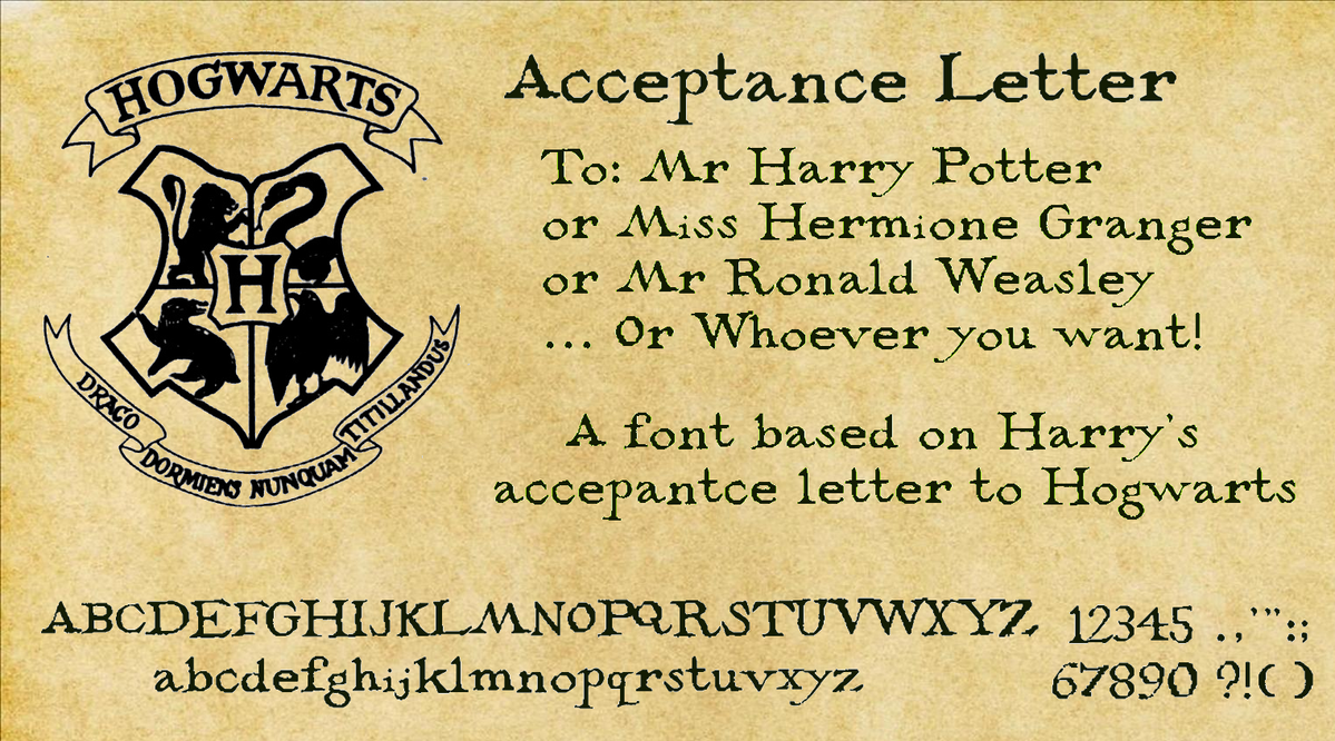 Acceptance letter by decat on deviantart for Letter from hogwarts template