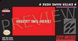 SNES NTSC Cartridge Label Print Template USA PSD