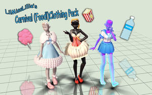 .:MMD DL:. Carnival Clothing  [500+ Watcher Gifts] by LilMissLillie