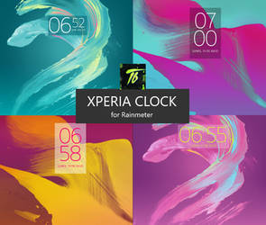 xClock - Digital Clock for Rainmeter by TavoBros