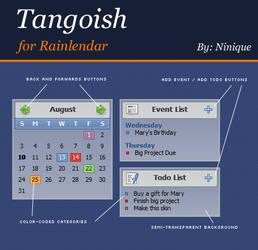 Tangoish for Rainlendar by ninique