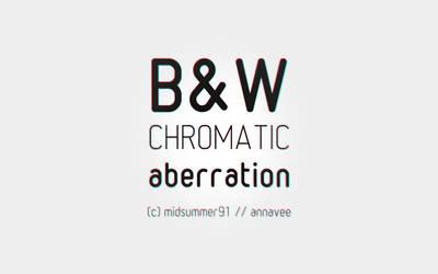 b.w chroma aberration