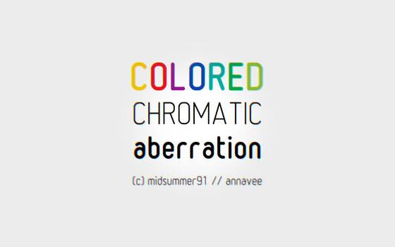 colored chroma aberration