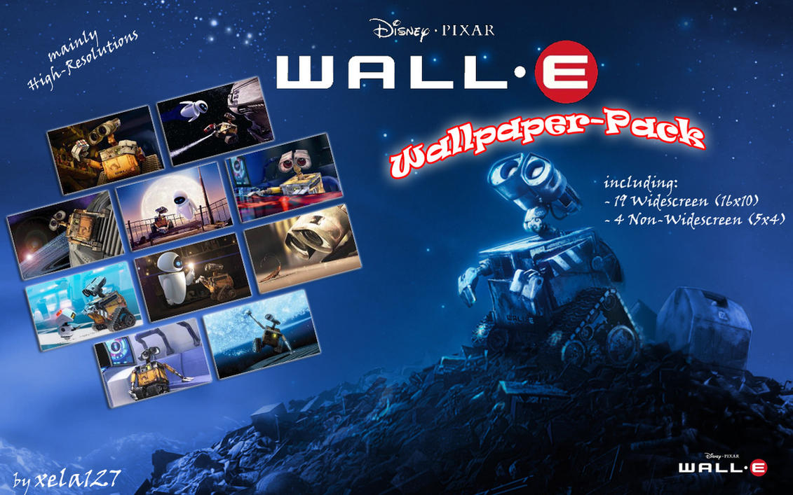 wall.e wallpaper-packxela127 on deviantart