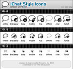 iChat Style Icons - Black
