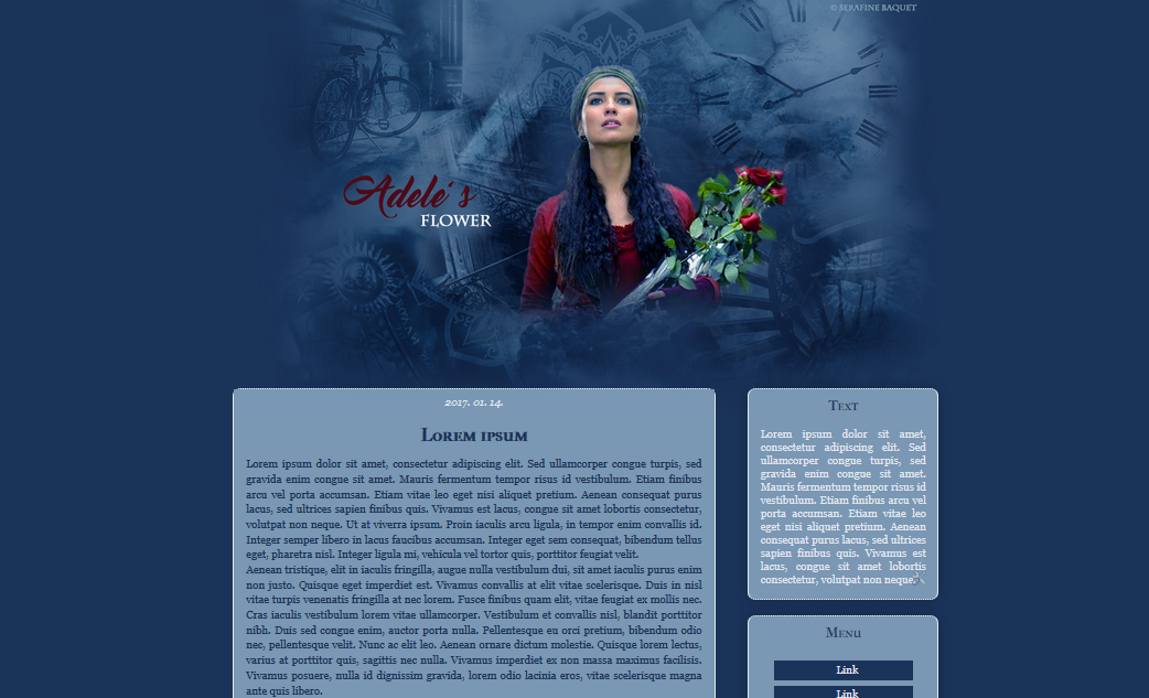 Adele's flower - blogger template by SerafineBaquet