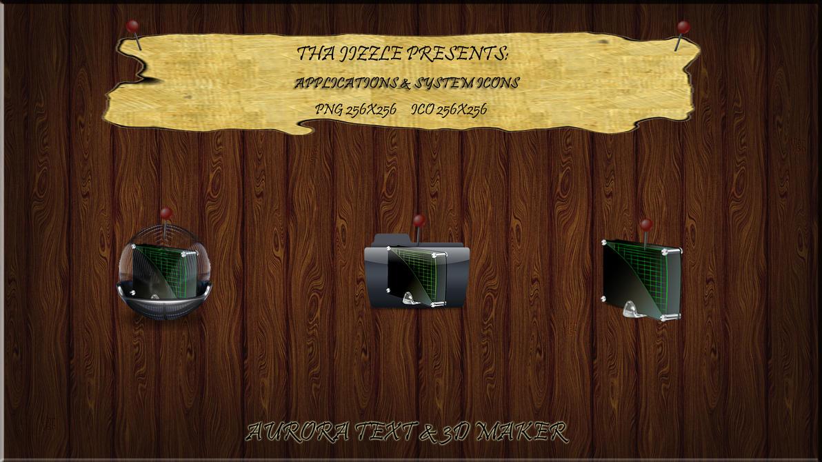 Aurora Text & 3D Maker Ikonz by ThaJizzle