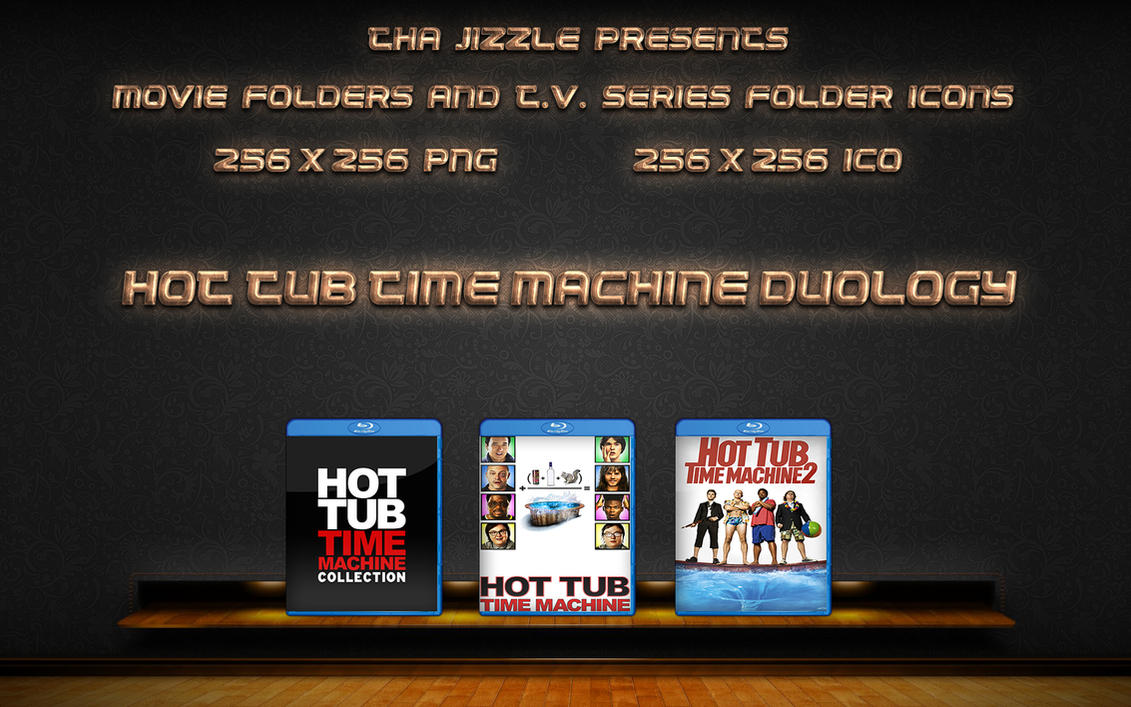 Hot Tub Time Machine Duology Movie Folder Icons by ThaJizzle