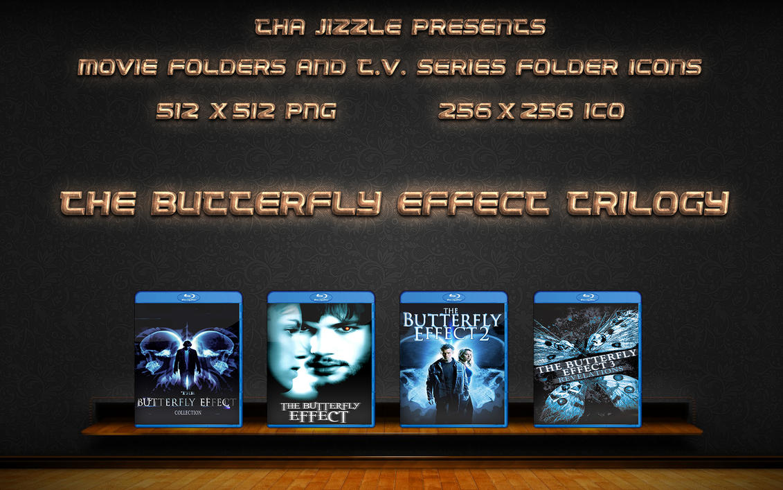 The Butterfly Effect Trilogy Movie Folder Icons by ThaJizzle