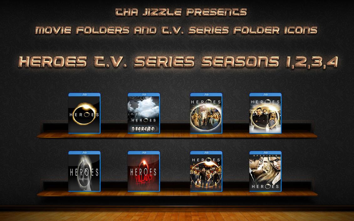 Heroes T.V. Series Seasons 1-4 Folder Icons by ThaJizzle