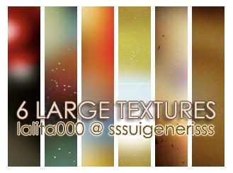 6 large textures by sssuigenerisss