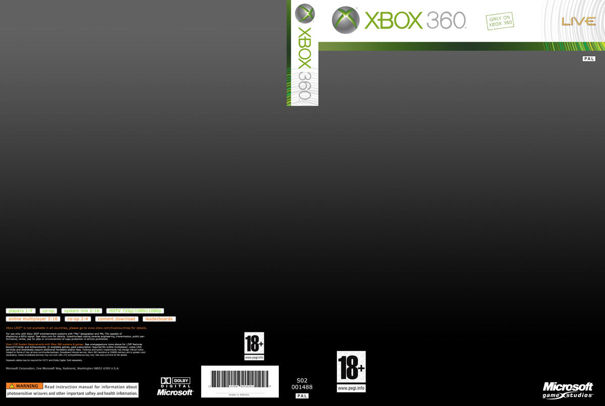 Xbox 360 cover template 600dpi by blotarenss on deviantart for Video game cover template