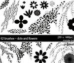 dots and flower brush