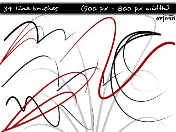 Line Art Brushes Photo : Line brushes by evionn on deviantart